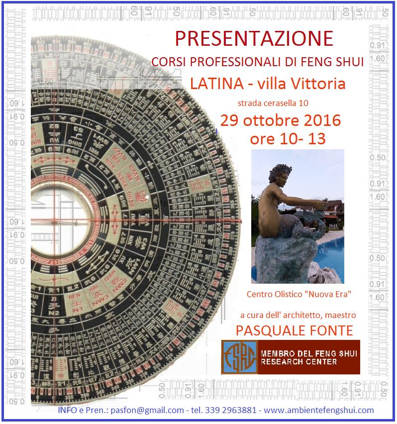 Presentazioni corsi feng shui a Latina 29 ottobre ore 10