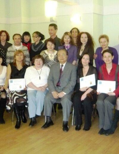 Pasquale Fonte ad un corso con il maestro Yu a Mosca