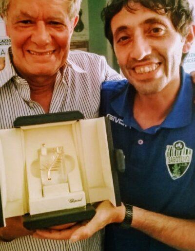 L'architetto Pasquale Fonte e Marcello Fonte con la palma d'oro